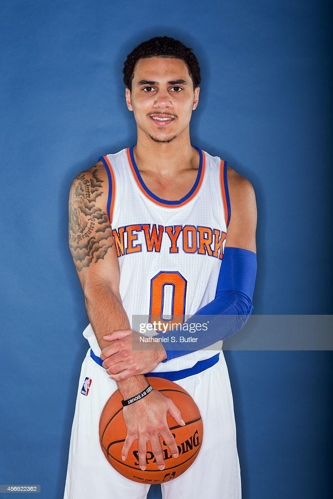 Shane Larkin of the New York Knicks poses for a photo during Media Day in New York New York NOTE TO USER User expressly acknowledges and agrees that...