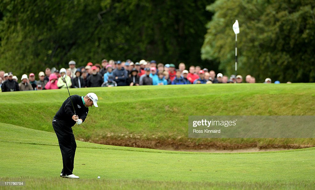 <a gi-track='captionPersonalityLinkClicked' href=/galleries/search?phrase=Shane+Lowry+-+Golfer&family=editorial&specificpeople=12866010 ng-click='$event.stopPropagation()'>Shane Lowry</a> of Ireland during the second round of the Irish Open at Carton House Golf Club on June 28, 2013 in Maynooth, Ireland.