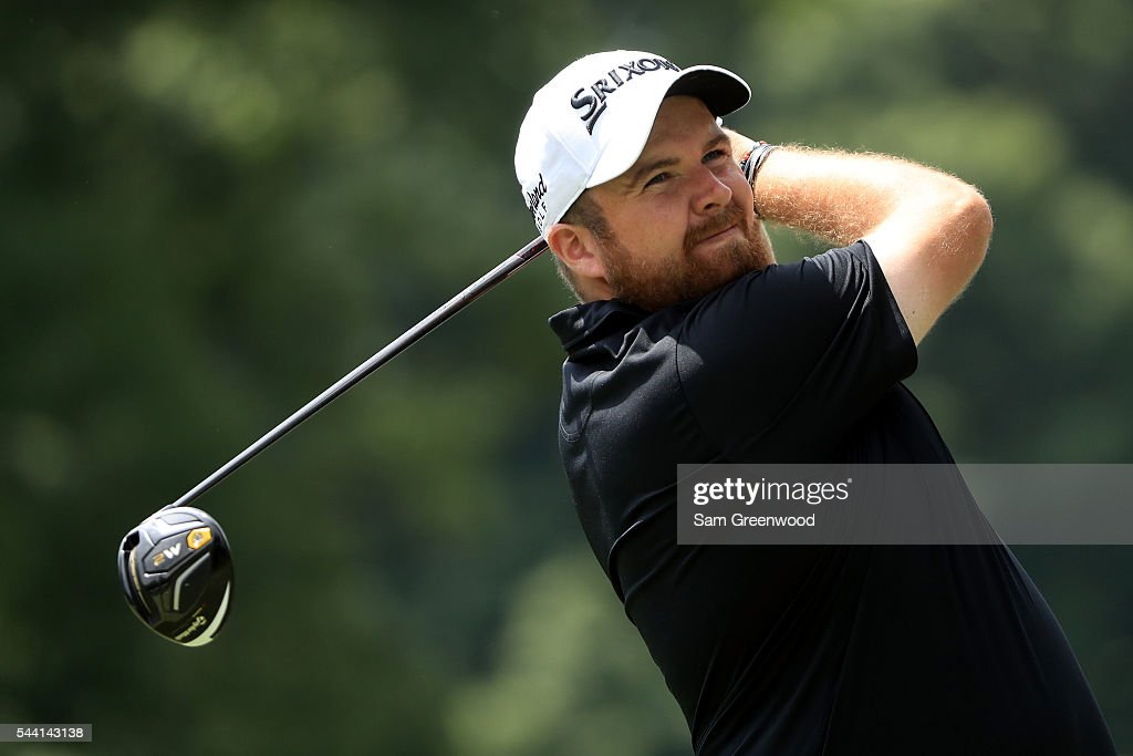 <a gi-track='captionPersonalityLinkClicked' href=/galleries/search?phrase=Shane+Lowry+-+Golfer&family=editorial&specificpeople=12866010 ng-click='$event.stopPropagation()'>Shane Lowry</a> of Ireland hits off the third tee during the second round of the World Golf Championships - Bridgestone Invitational at Firestone Country Club South Course on July 1, 2016 in Akron, Ohio.