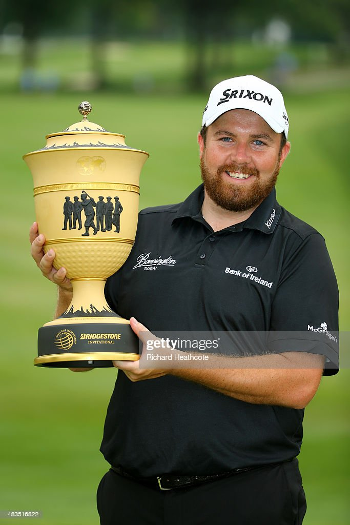 Shane Lowry of Ireland holds the Gary Player Cup after winning the World Golf Championships - Bridgestone Invitational during the final round at Firestone Country Club South Course on August 9, 2015 in Akron, Ohio. Lowry finished with a score of -11.