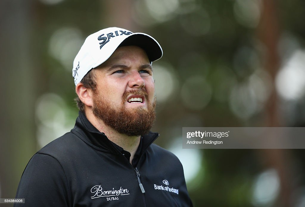 <a gi-track='captionPersonalityLinkClicked' href=/galleries/search?phrase=Shane+Lowry+-+Golfer&family=editorial&specificpeople=12866010 ng-click='$event.stopPropagation()'>Shane Lowry</a> of Ireland looks on during day one of the BMW PGA Championship at Wentworth on May 26, 2016 in Virginia Water, England.