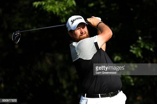Shane Lowry of Ireland plays his shot from the fifth tee during the first round of THE PLAYERS Championship at the Stadium course at TPC Sawgrass on...