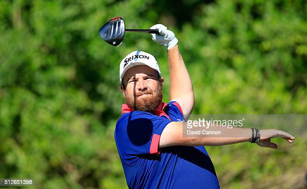 Shane Lowry of Ireland plays his tee shot on the par 5 third hole during the third round of the 2016 Honda Classic held on the PGA National Course at...