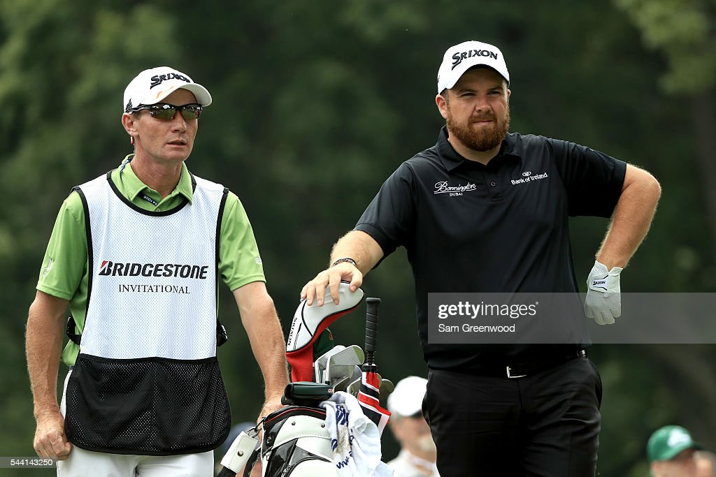 <a gi-track='captionPersonalityLinkClicked' href=/galleries/search?phrase=Shane+Lowry+-+Golfer&family=editorial&specificpeople=12866010 ng-click='$event.stopPropagation()'>Shane Lowry</a> of Ireland prepares to hit off the third tee during the second round of the World Golf Championships - Bridgestone Invitational at Firestone Country Club South Course on July 1, 2016 in Akron, Ohio.