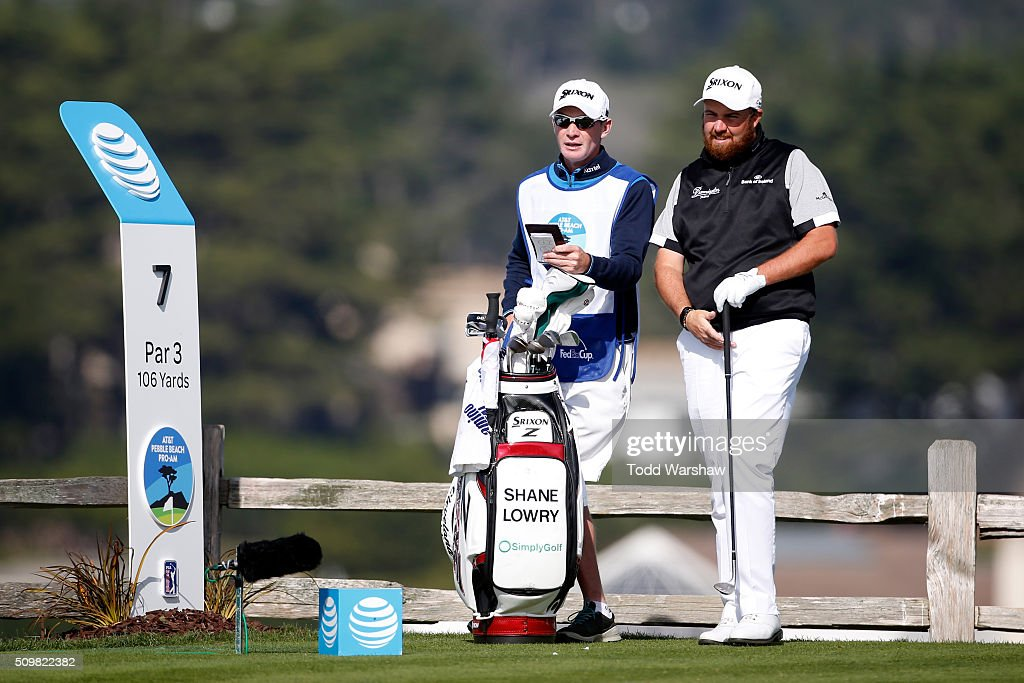 <a gi-track='captionPersonalityLinkClicked' href=/galleries/search?phrase=Shane+Lowry+-+Golfer&family=editorial&specificpeople=12866010 ng-click='$event.stopPropagation()'>Shane Lowry</a> of Ireland prepares to play his tee shot on the seventh hole during the second round of the AT&T Pebble Beach National Pro-Am at the Pebble Beach Golf Links on February 12, 2016 in Pebble Beach, California.