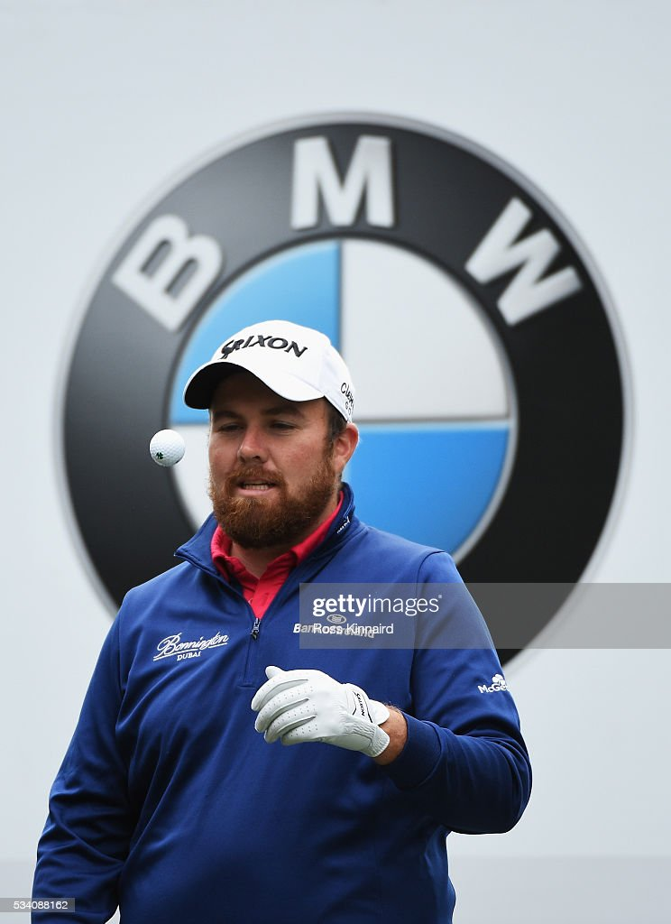 <a gi-track='captionPersonalityLinkClicked' href=/galleries/search?phrase=Shane+Lowry+-+Golfer&family=editorial&specificpeople=12866010 ng-click='$event.stopPropagation()'>Shane Lowry</a> of Ireland throws a ball during the Pro-Am prior to the BMW PGA Championship at Wentworth on May 25, 2016 in Virginia Water, England.
