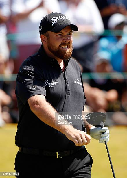 Shane Lowry of Ireland walks off the first tee during the final round of the 115th US Open Championship at Chambers Bay on June 21 2015 in University...