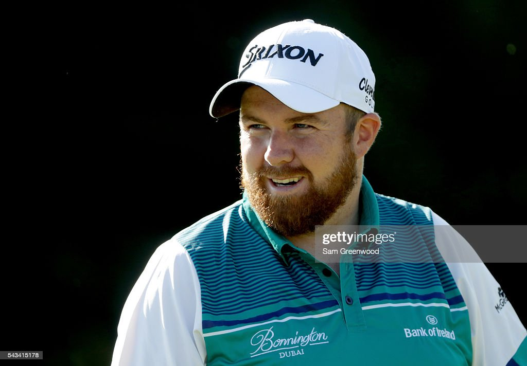 <a gi-track='captionPersonalityLinkClicked' href=/galleries/search?phrase=Shane+Lowry+-+Golfer&family=editorial&specificpeople=12866010 ng-click='$event.stopPropagation()'>Shane Lowry</a> of Ireland warms up on the practice facility prior to the World Golf Championships-Bridgestone Invitational at Firestone Country Club South Course on June 28, 2016 in Akron, Ohio.