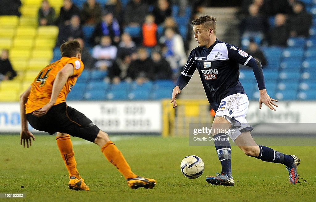 <a gi-track='captionPersonalityLinkClicked' href=/galleries/search?phrase=Shane+Lowry+-+Soccer+Player&family=editorial&specificpeople=12866006 ng-click='$event.stopPropagation()'>Shane Lowry</a> of Millwall attacks during the npower Championship match between Millwall and Wolverhampton Wanderers at The Den on March 05, 2013 in London, England,