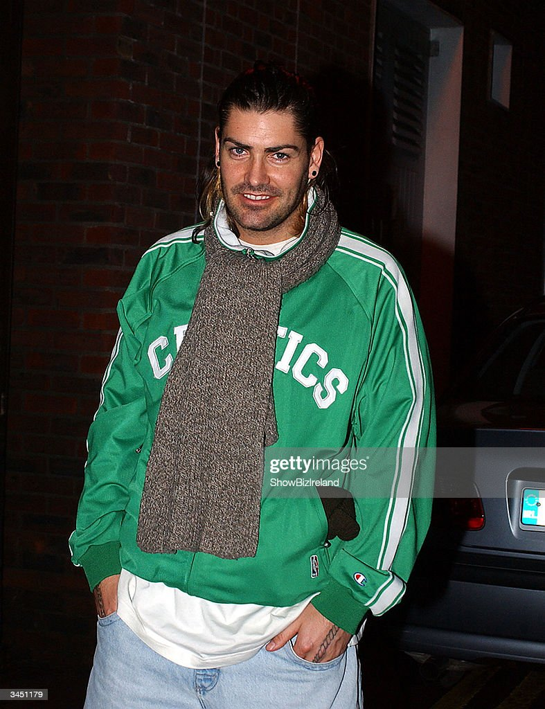 Shane Lynch, a former member of Boyzone, stands outside Diep Shaker Restaurant April 20, 2004 in Dublin, Ireland.