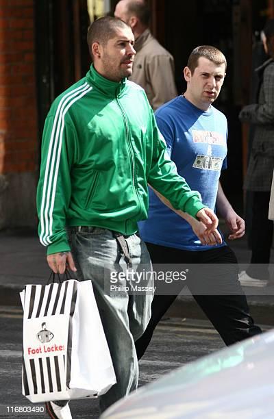 Shane Lynch of Boyzone during Shane Lynch Sighting at Westbury Hotel in Dublin April 28 2007 at Westbury Hotel in Dublin Ireland