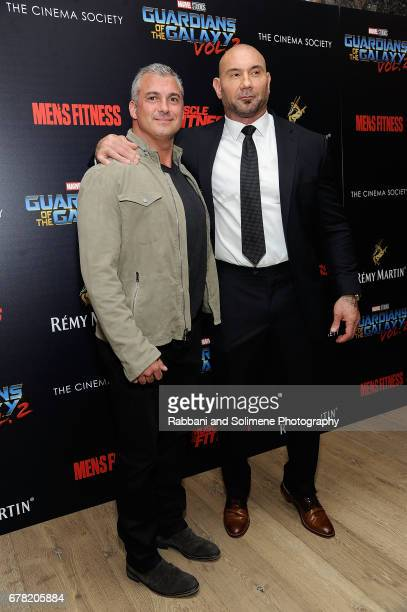 Shane McMahon and Dave Bautista attend a screening of Marvel Studios' 'Guardians Of The Galaxy Vol 2' hosted by The Cinema Society at the Whitby...