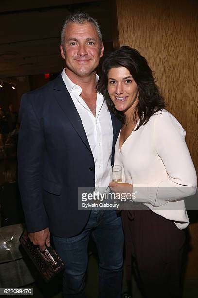Shane McMahon and Marissa McMahon attend Children's Museum of the Arts' 2016 Art Auction Cocktail Party at Dream Downtown on November 9 2016 in New...