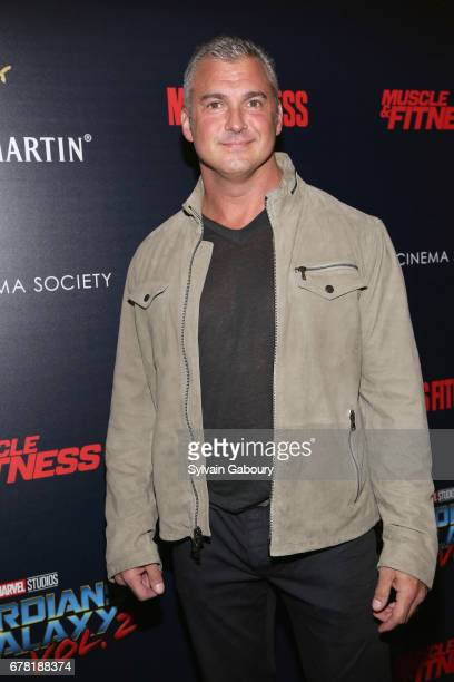 Shane McMahon attends The Cinema Society with Men's Fitness Muscle Fitness and Remy Martin host a screening of Marvel Studios' 'Guardians of the...