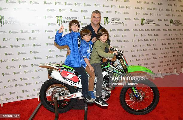 Shane McMahon of YOU on demand formely WWE Pro Wrestler and his wife Marissa MazzolaMcMahon attend during Monster Energy SuperCross World...