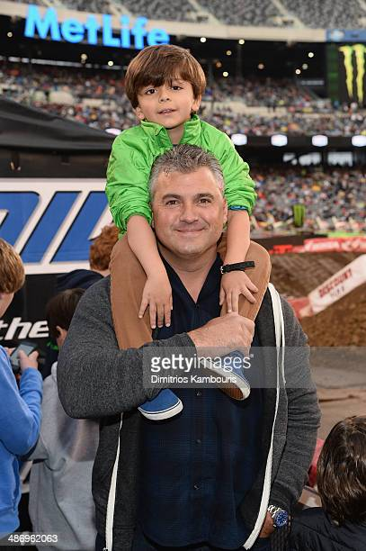 Shane McMahon of YOU on demand formely WWE Pro Wrestler attends the Monster Energy SuperCross World Championship Race at MetLife Stadium on April 26...