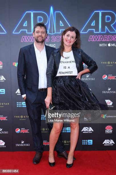 Shane Nicholson and partner arrives for the 31st Annual ARIA Awards 2017 at The Star on November 28 2017 in Sydney Australia