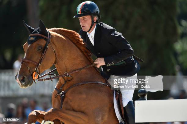 Shane of Ireland riding Ispwich van de Wolfsakker during the Piazza di Siena Bank Intesa Sanpaolo in the Villa Borghese on May 27 2017 in Rome Italy