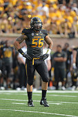 Shane Ray of the Missouri Tigers in action during a game against the Indiana Hoosiers at Memorial Stadium on September 20 2014 in Columbia Missouri