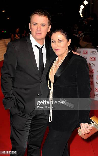 Shane Richie and Jessie Wallace attend the National Television Awards at 02 Arena on January 21 2015 in London England