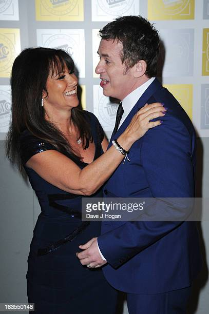 Shane Richie and Linda Lusardi attend the TRIC Awards 2013 at The Grosvenor House Hotel on March 12 2013 in London England