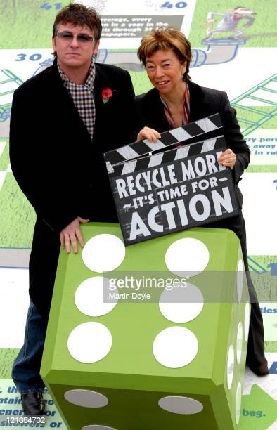 Shane Richie and Nicky Gavron during Recycle for London Launch and Photocall at Trafalgar Square in London Great Britain