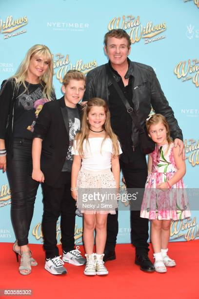 Shane Richie Christie Goddard and family attend the Gala performance of Wind In The Willows at London Palladium on June 29 2017 in London England