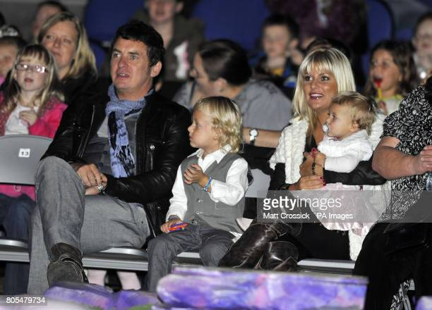 Shane Richie wife Christie and children Mackenzie and LolitaBelle at the VIP launch of 'Disney On Ice presents Princess Wishes' at the O2 arena in...