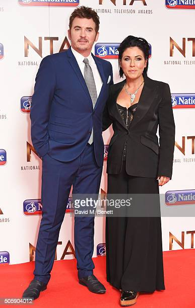 Shane Ritchie and Jessie Wallace attend the 21st National Television Awards at The O2 Arena on January 20 2016 in London England