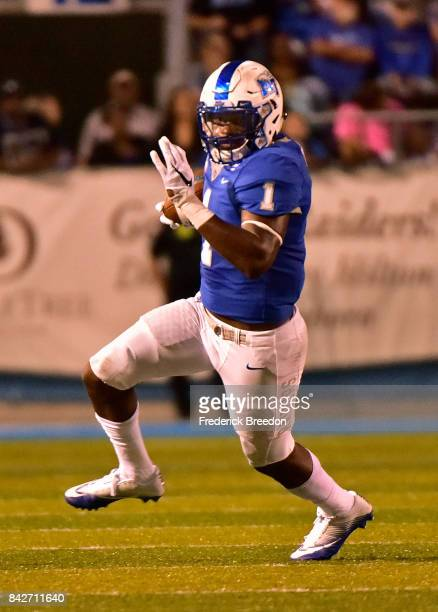 Shane Tucker of the Middle Tennessee State University Blue Raiders plays during a 286 loss to the Vanderbilt Commodores at Floyd Stadium on September...