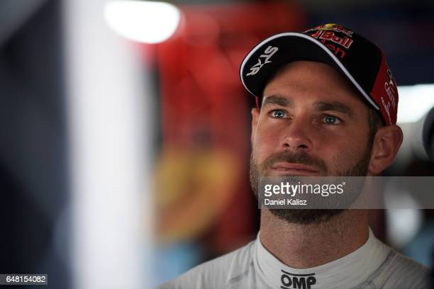 Shane Van Gisbergen driver of the Red Bull Holden Racing Team Holden Commodore VF during qualifying for race 2 of the Clipsal 500 which is part of...