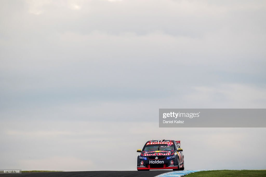 Shane Van Gisbergen drives the #97 Red Bull Holden Racing Team Holden Commodore VF during practice ahead of the Phillip Island 500, which is part of the Supercars Championship at Phillip Island Grand Prix Circuit on April 21, 2017 in Phillip Island, Australia.