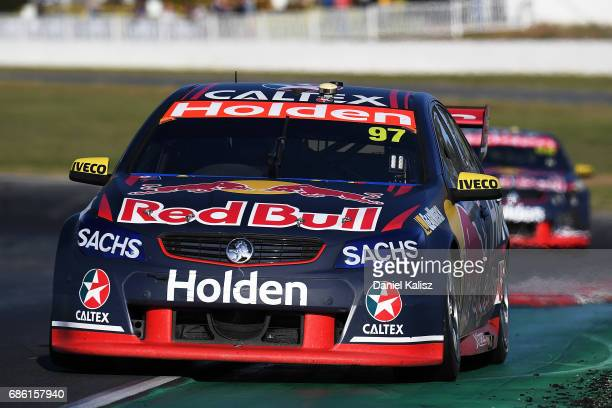 Shane Van Gisbergen drives the Red Bull Holden Racing Team Holden Commodore VF during RACE 10 for the Winton SuperSprint which is part of the...