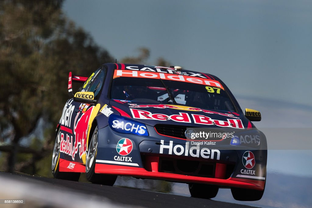 Shane Van Gisbergen drives the #97 Red Bull Holden Racing Team Holden Commodore VF during qualifying ahead of this weekend's Bathurst 1000, which is part of the Supercars Championship at Mount Panorama on October 6, 2017 in Bathurst, Australia.