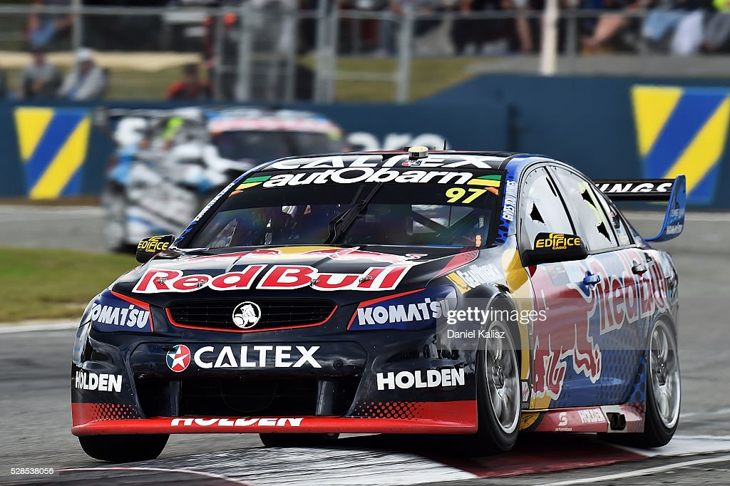 Shane Van Gisbergen drives the #97 Red Bull Racing Australia Holden Commodore VF during practice for the V8 Supercars Perth SuperSprint at Barbagallo Raceway on May 6, 2016 in Perth, Australia.