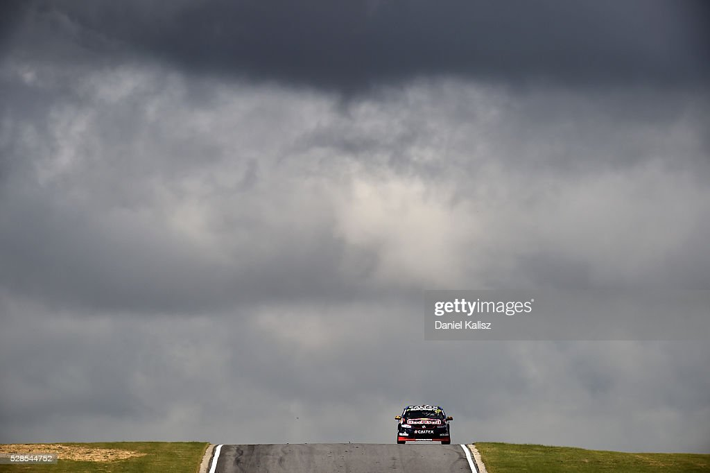Shane Van Gisbergen drives the Red Bull Racing Australia Holden Commodore VF during practice for the V8 Supercars Perth SuperSprint at Barbagallo...