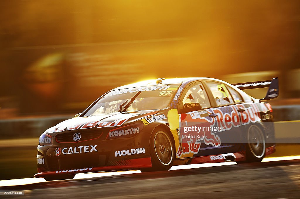 Shane Van Gisbergen drives the Red Bull Racing Australia Holden Commodore VF during practice ahead of the Winton round of V8 SUpercars at Winton...
