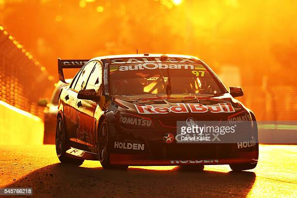 Shane Van Gisbergen drives the Red Bull Racing Australia Holden Commodore VF during race 2 for the Townsville 400 at Reid Park on July 10 2016 in...