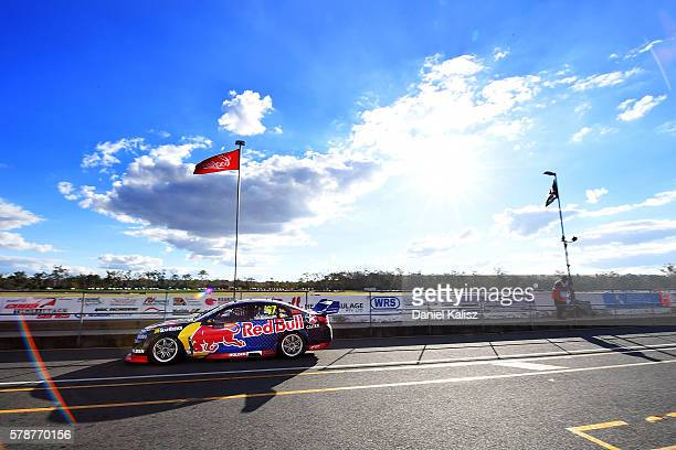 Shane Van Gisbergen drives the Red Bull Racing Australia Holden Commodore VF during practice for the V8 Supercars Ipswich Supersprint on July 22 2016...