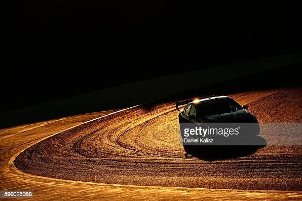 Shane Van Gisbergen drives the Red Bull Racing Australia Holden Commodore VF during race 2 for the V8 Supercars Sydney SuperSprint at Sydney...