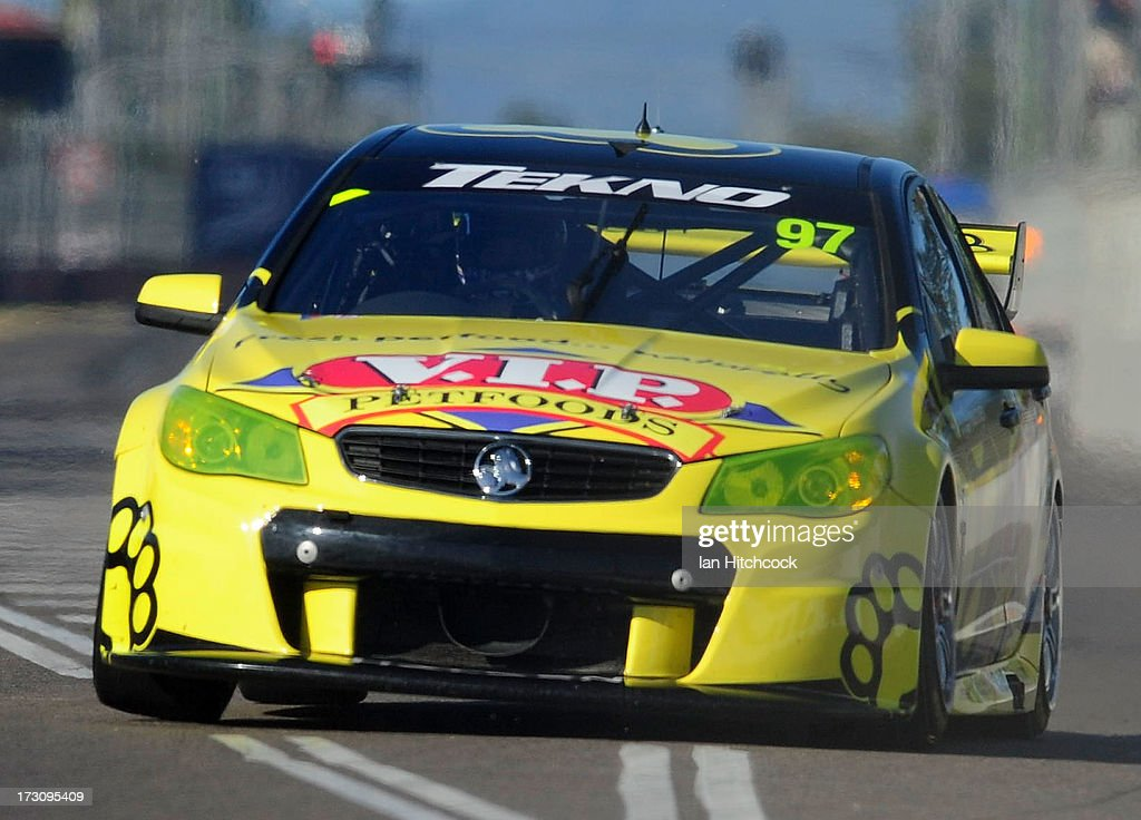 Shane Van Gisbergen drives the #97 Team Tekno V.I.P Petfoods Holden during race 21 of the Townsville 400, which is round seven of the V8 Supercar Championship Series at Reid Park on July 7, 2013 in Townsville, Australia.