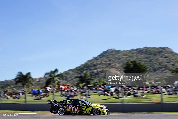 Shane van Gisbergen drives the TEKNO VIP Petfoods Holden during qualifying for the Townsville 500 which is round seven of the V8 Supercar...