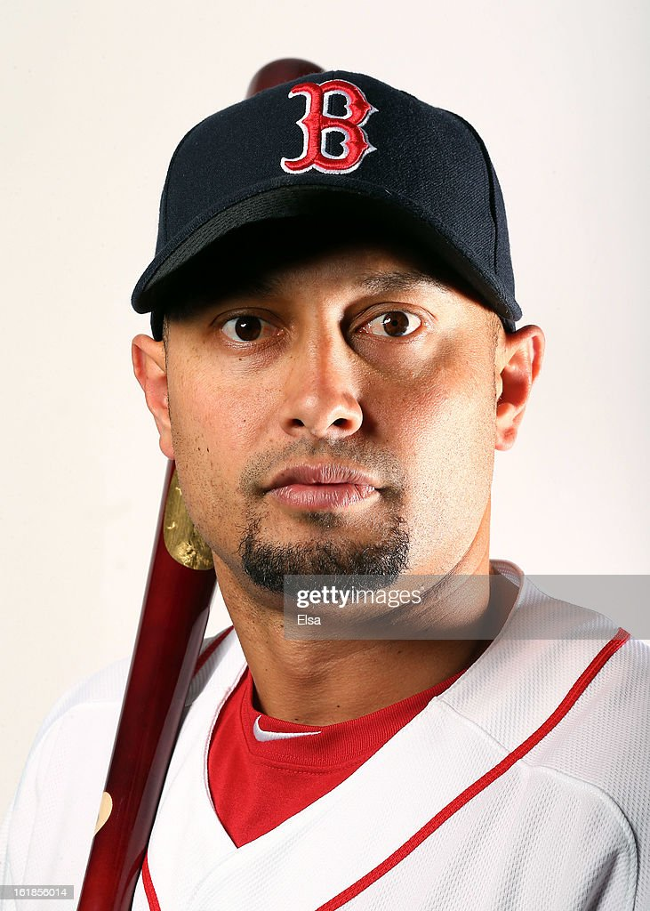 Shane Victorino #18 of the Boston Red Sox poses for a portrait on February 17, 2013 at JetBlue Park at Fenway South in Fort Myers, Florida.