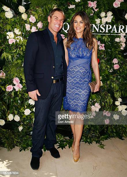 Shane Warne and Elizabeth Hurley attend a Queenspark breakfast to celebrate the brand's Summer 2013 collection on November 8 2013 in Sydney Australia