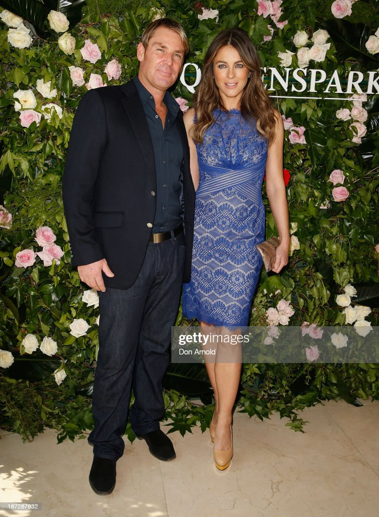 Elizabeth Hurley Attends Queenspark Breakfast