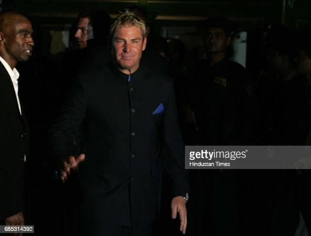 Shane warne at Mahalaxmi racecourse for IPL party