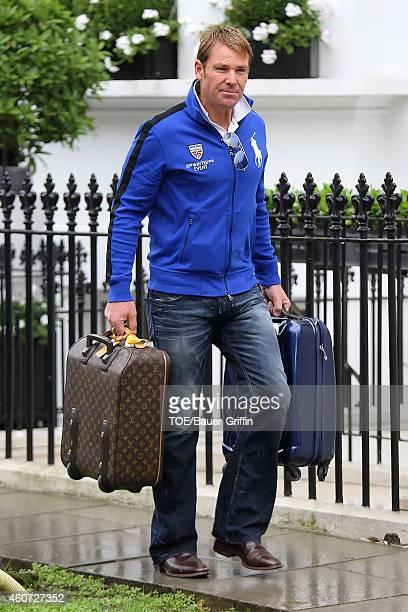 Shane Warne is seen on July 06 2012 in London United Kingdom