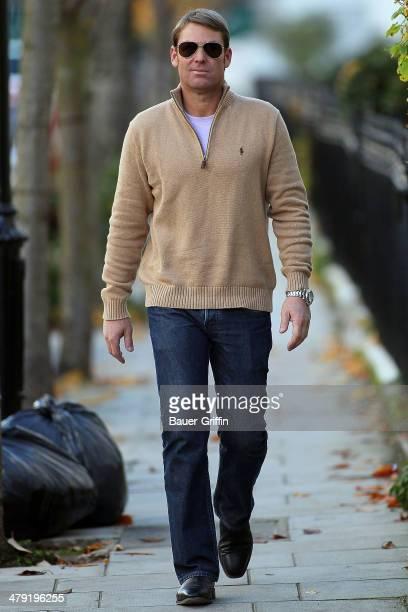 Shane Warne is seen on November 14 2012 in London United Kingdom