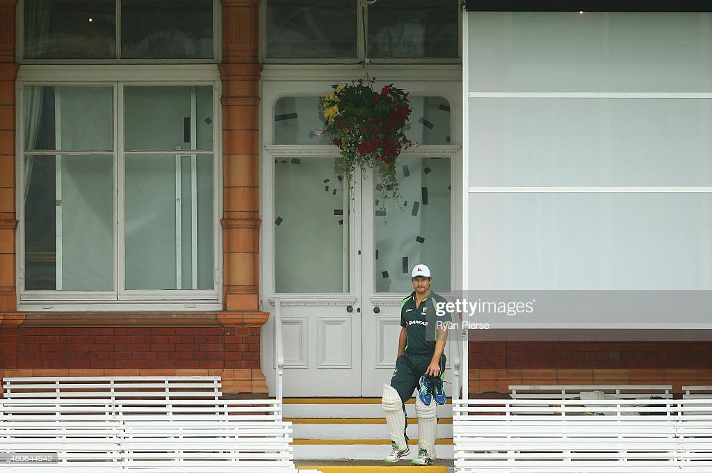 Shane Watson of Australia arrives at training during a nets session ahead of the 2nd Investec Ashes Test match between England and Australia at Lord's Cricket Ground on July 14, 2015 in London, United Kingdom.
