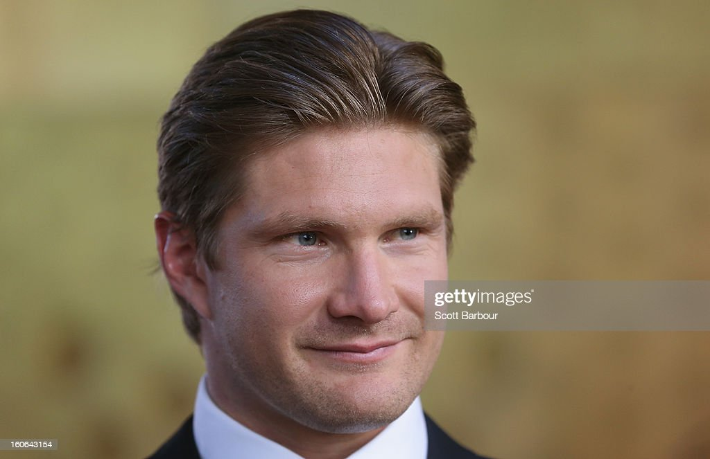 Shane Watson of Australia arrives during the 2013 Allan Border Medal awards ceremony at Crown Palladium on February 4, 2013 in Melbourne, Australia.